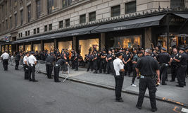 Group of policemen on the streets of New York. NEW YORK, USA - Sep 22, 2016: A group of policemen on the streets of New York City during the 71 th session of the Stock Image