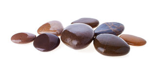 Group of Polished Pebbles Royalty Free Stock Photography
