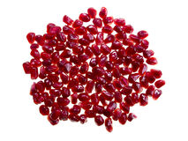 Group of pomegranate seeds. On white background Stock Images