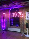 The 1975 Group Pop up Shop London. Royalty Free Stock Images