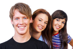 Group portrait of attractive people stock photography