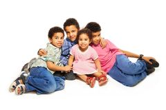 Group portrait of black siblings Stock Images