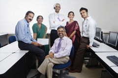 Group Portrait Of Call Center Employees Royalty Free Stock Photo