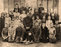 Group portrait of children from an orphanage Royalty Free Stock Photography