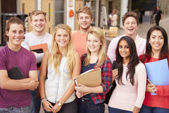Group Portrait Of College Students Stock Photography