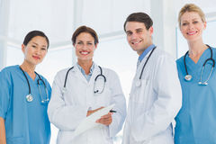 Group portrait of doctors standing together Stock Images