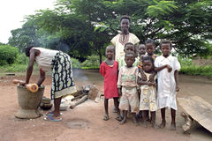 Group portrait of Ghanaian children, boys and girl Stock Photo