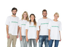 Group portrait of happy volunteers Royalty Free Stock Image