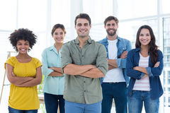 Group portrait of happy young colleagues Royalty Free Stock Images