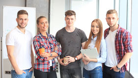 Group portrait of happy young colleagues Royalty Free Stock Photography