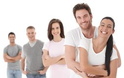 Group portrait of happy young people. Together, looking at camera, smiling Royalty Free Stock Photos