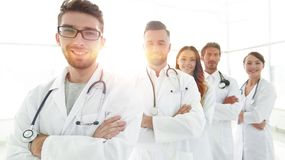 Group portrait of leading medical professionals. Concept of health Royalty Free Stock Image