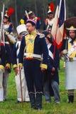 Group portrait of men in vintage military uniform Stock Image