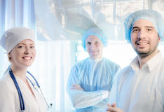 Group portrait of mixed aged medical doctors Stock Photography