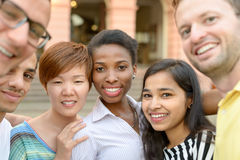 Group portrait of multicultural young people stock image