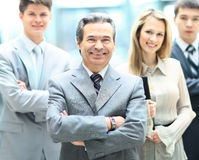 Group portrait of a professional business team looking Royalty Free Stock Photos