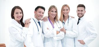 Group portrait of a professional medical team royalty free stock images