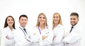 Group portrait of a professional medical team. The concept of health Royalty Free Stock Photos