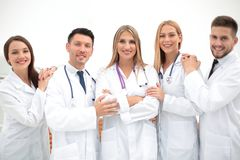 Group portrait of a professional medical team. The concept of health Stock Photos