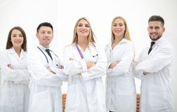 Group portrait of a professional medical team. The concept of health Stock Photo