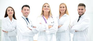 Group portrait of a professional medical team. The concept of health Royalty Free Stock Image