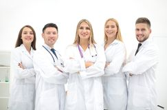 Group portrait of a professional medical team. The concept of health Royalty Free Stock Photography