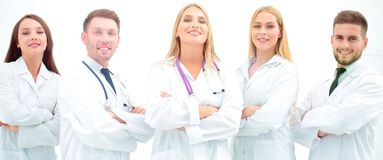 Group portrait of a professional medical team. The concept of health Royalty Free Stock Images