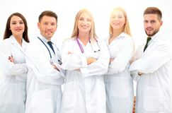 Group portrait of a professional medical team. The concept of health Stock Image