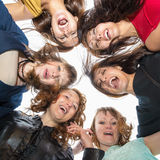 Group Portrait of six beautiful happy women Royalty Free Stock Photos