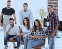 Successful employees design Agency Stock Image