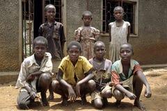 Group portrait Ugandan schoolchildren Stock Photography