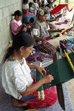 Group portrait of weaving Ixil maya Indian women Stock Photography