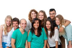 Group portrait of young students. Royalty Free Stock Photo