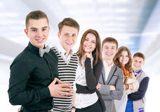 Group of positive young people Stock Image