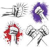 Group of power hands Stock Photography