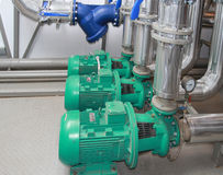 Group of powerful pumps and the filter Stock Images