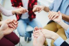 Group pray Stock Image