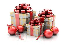 Group of presents Royalty Free Stock Images