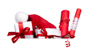 Group of presents with space for Stock Photography