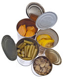 Group of Preserved Canned Vegetables Stock Photos