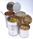 Group of Preserved Canned Vegetables Royalty Free Stock Image