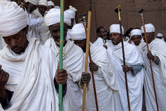 A group of Priests, Lalibela. A group of Priests in Lalibela royalty free stock photos