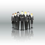 Group of a professional business team. Characters Stock Photo