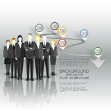 Group of a professional business team standing Stock Photography
