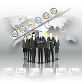 Group of a professional business team standing Royalty Free Stock Images