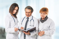 A group of professional doctors. Royalty Free Stock Image