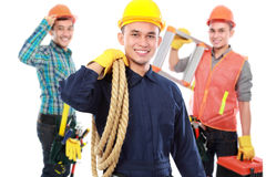 Group of professional male engineer Stock Photo