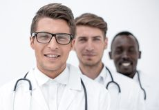 Group of professional physicians. The concept of professionalism royalty free stock photo