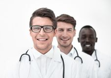 Group of professional physicians. The concept of professionalism stock photo