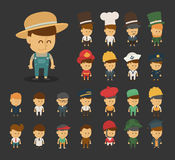 Group of professions cartoon characters Royalty Free Stock Images